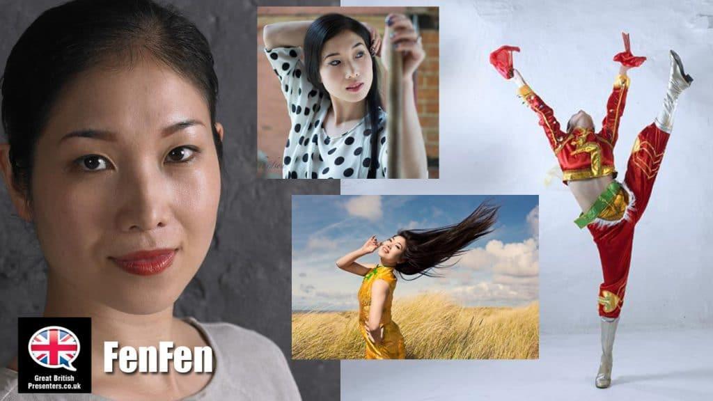 Fenfen English Chinese Mandarin presenter at Great British Presenters