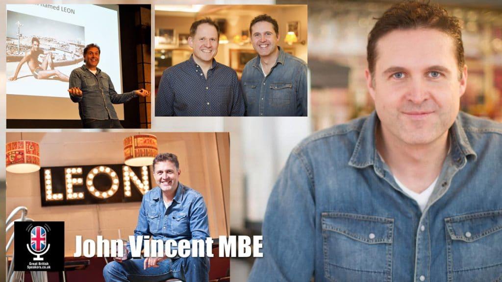 John Vincent MBE Leon Fast Food entrepreneur speaker at Great British Speakers