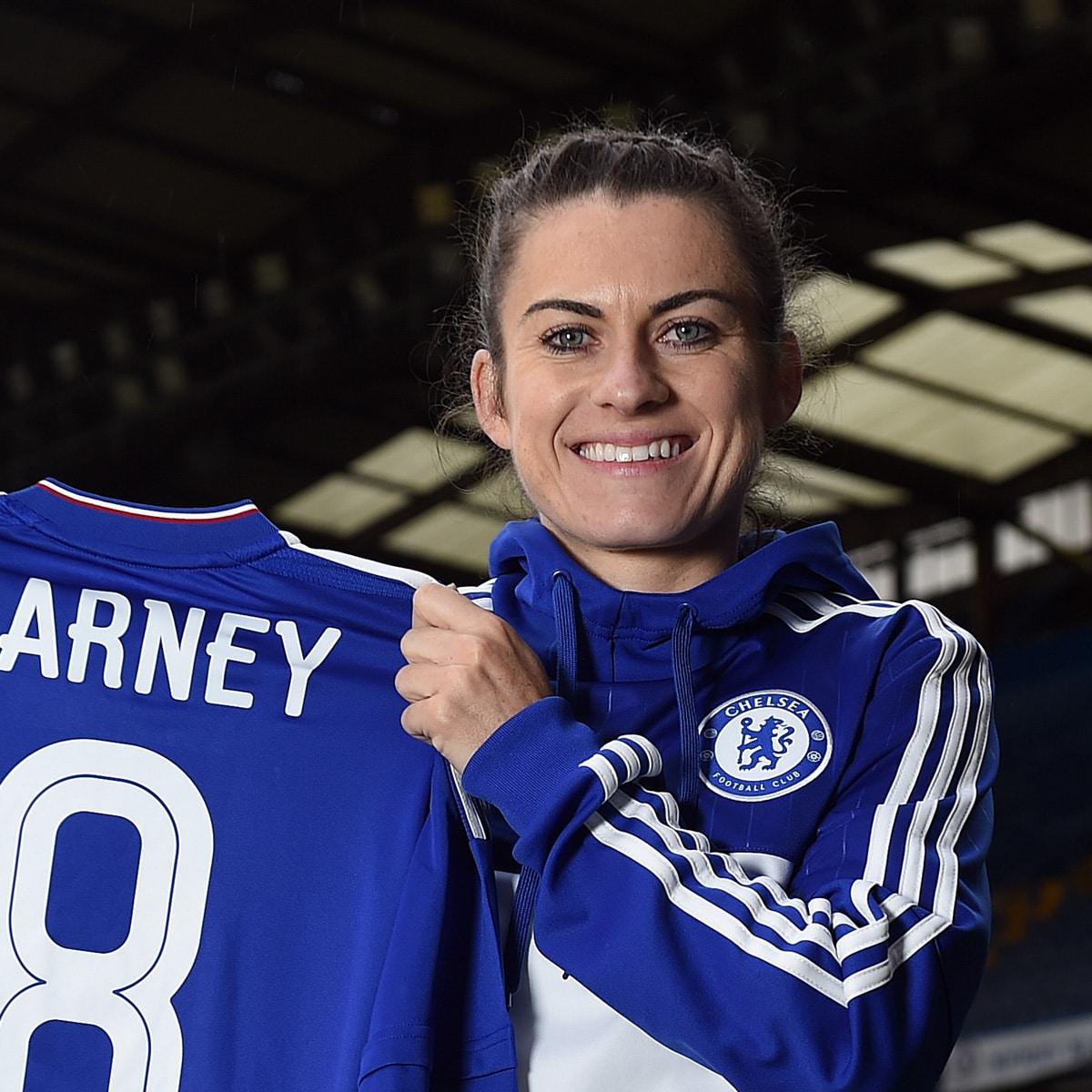 Karen-Carney-MBE-Female-womens-Chelsea-English-football-soccer-star-at-Great-British-Speakers