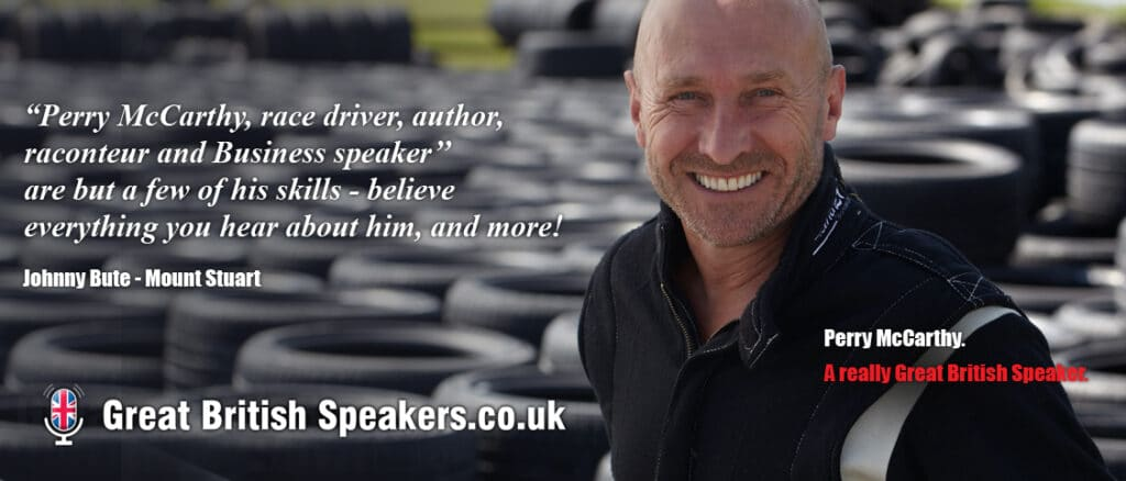Perry McCarthy original Stig inspirational speaker at Great British Speakers