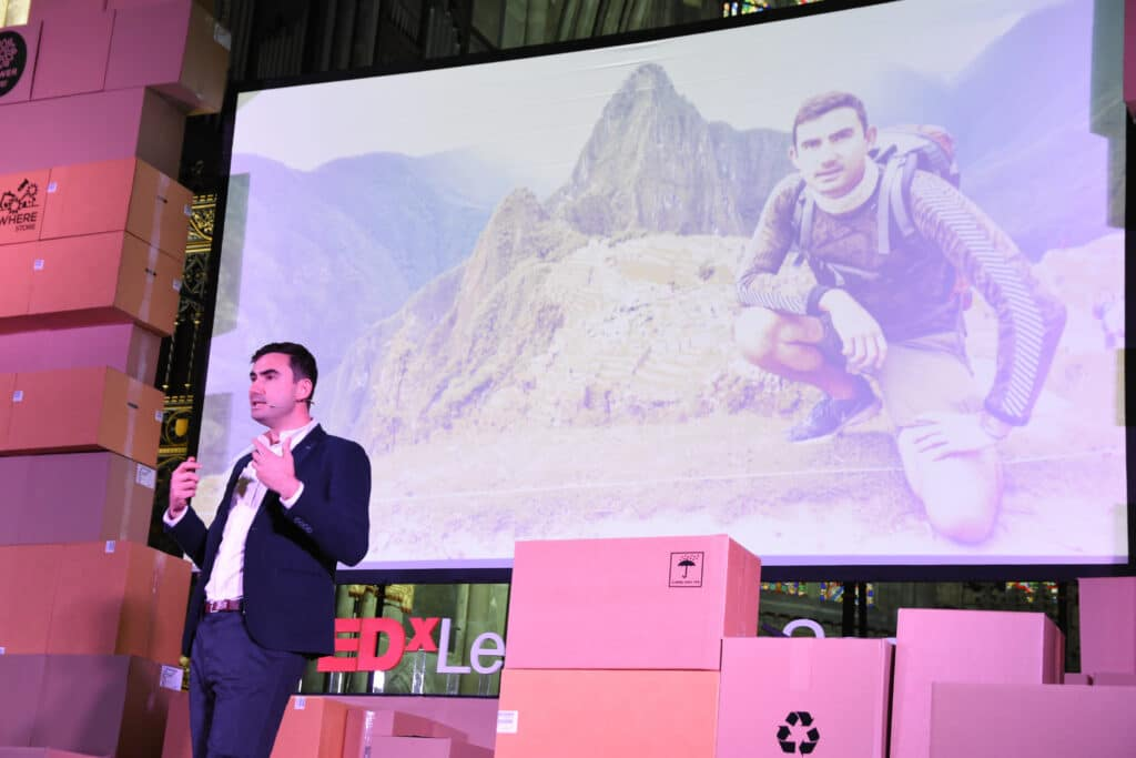 Simon Parker TEDx speaker book at agent Great British Speakers