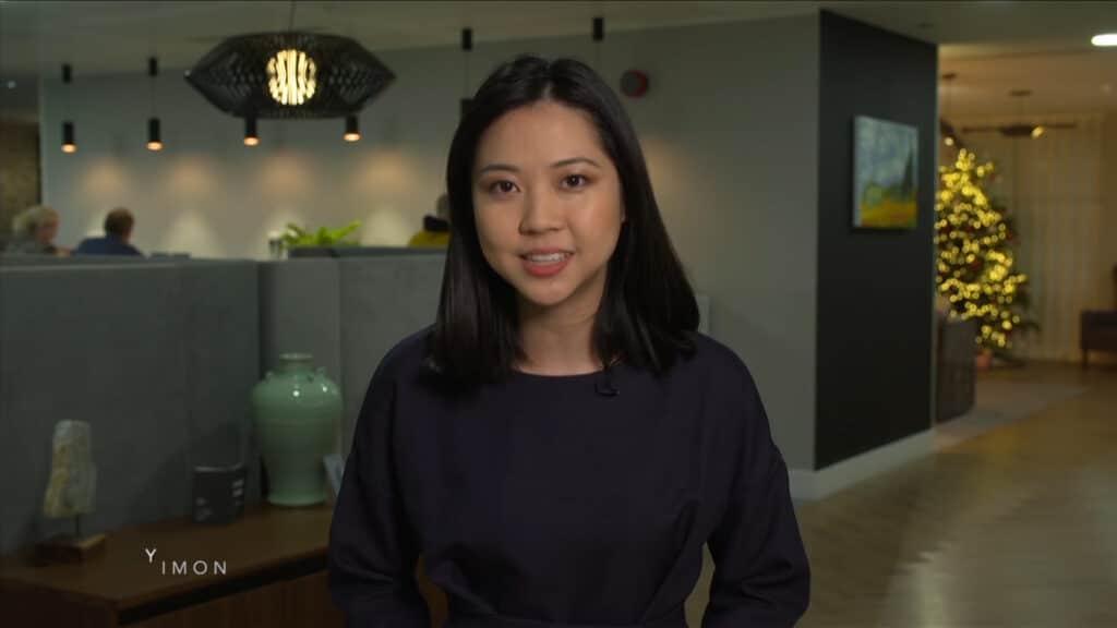 Susie Zhou English speaking Chinese international journalist news anchor at Great British Presenters