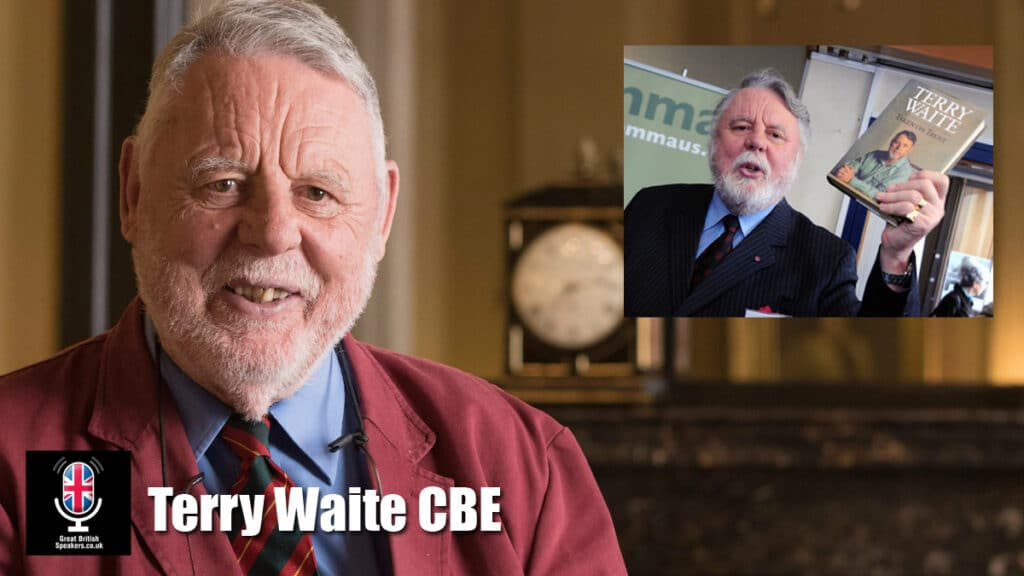Terry Waite CBE hostage Beirut Lebanon Humanitarian hostage negotiator Speaker at Great British Speakers