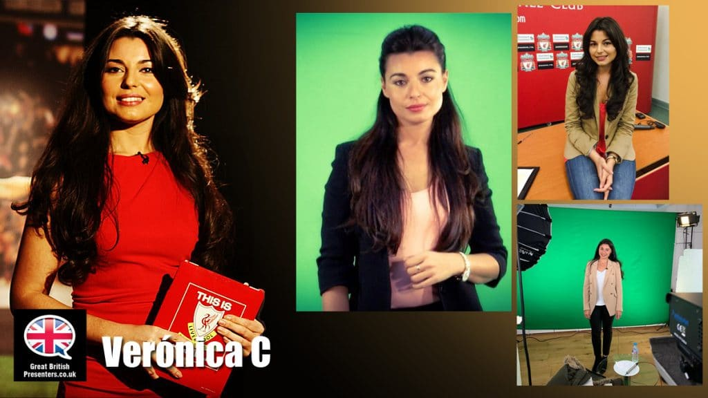 Verónica Carralcázar Female English Spanish sports TV presenter live awards host at Great British Presenters
