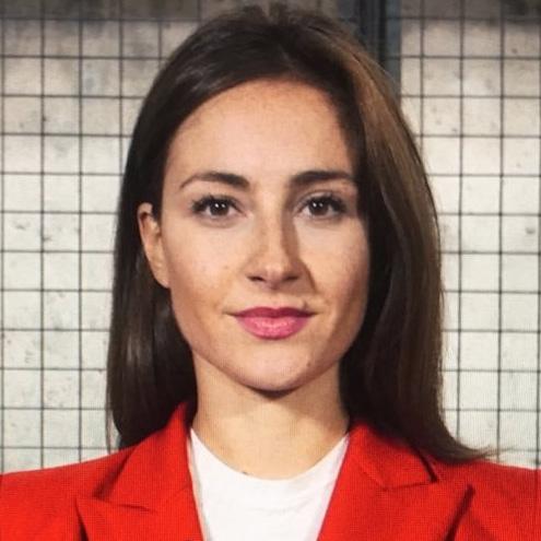 Polly English Russian TV presenter London at Great British Presenters