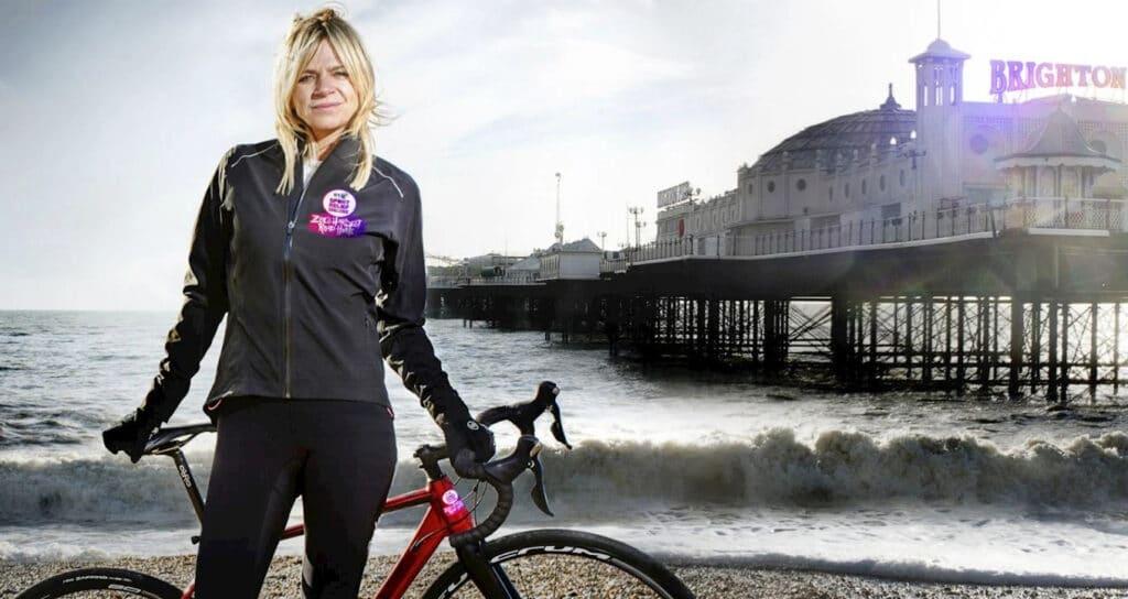 Zoe Ball Blackpool to London Charity bike ride at Great British Speakers