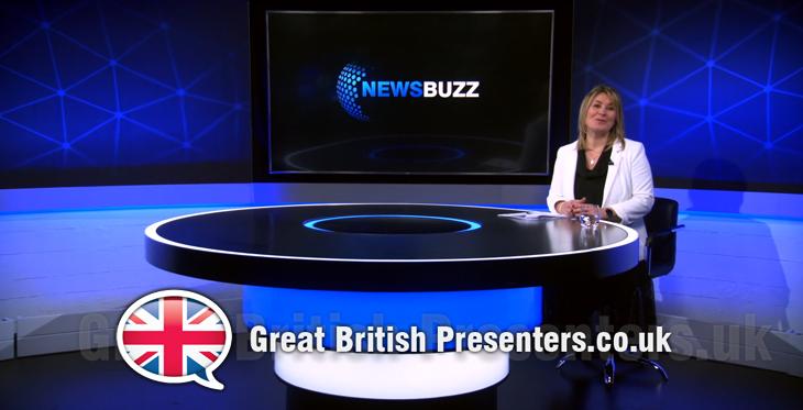 Jane Farnham for NewsBuzz corporate communications studio at Great British Presenters